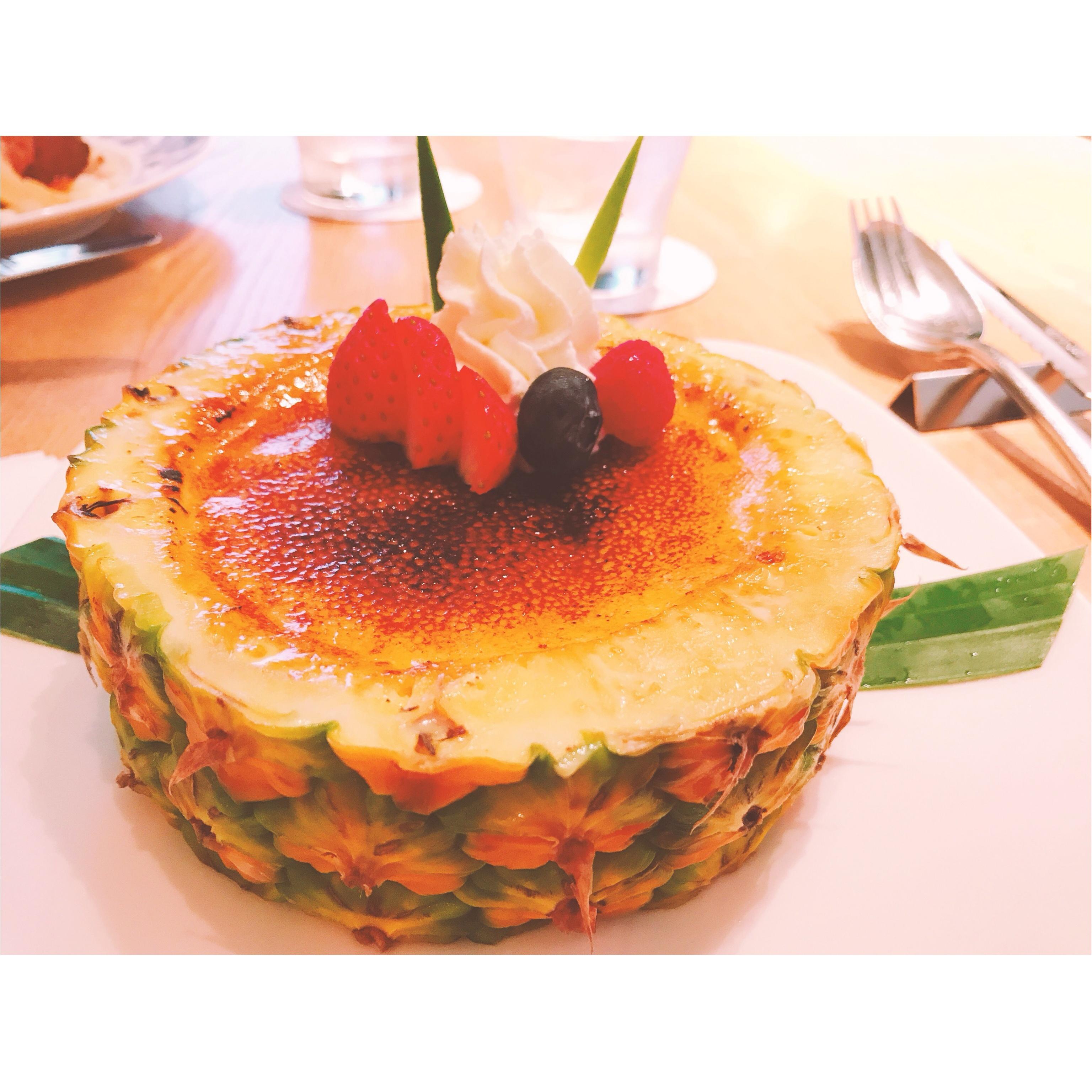 【ハワイ発】パイナップルが器のスイーツ♡_2