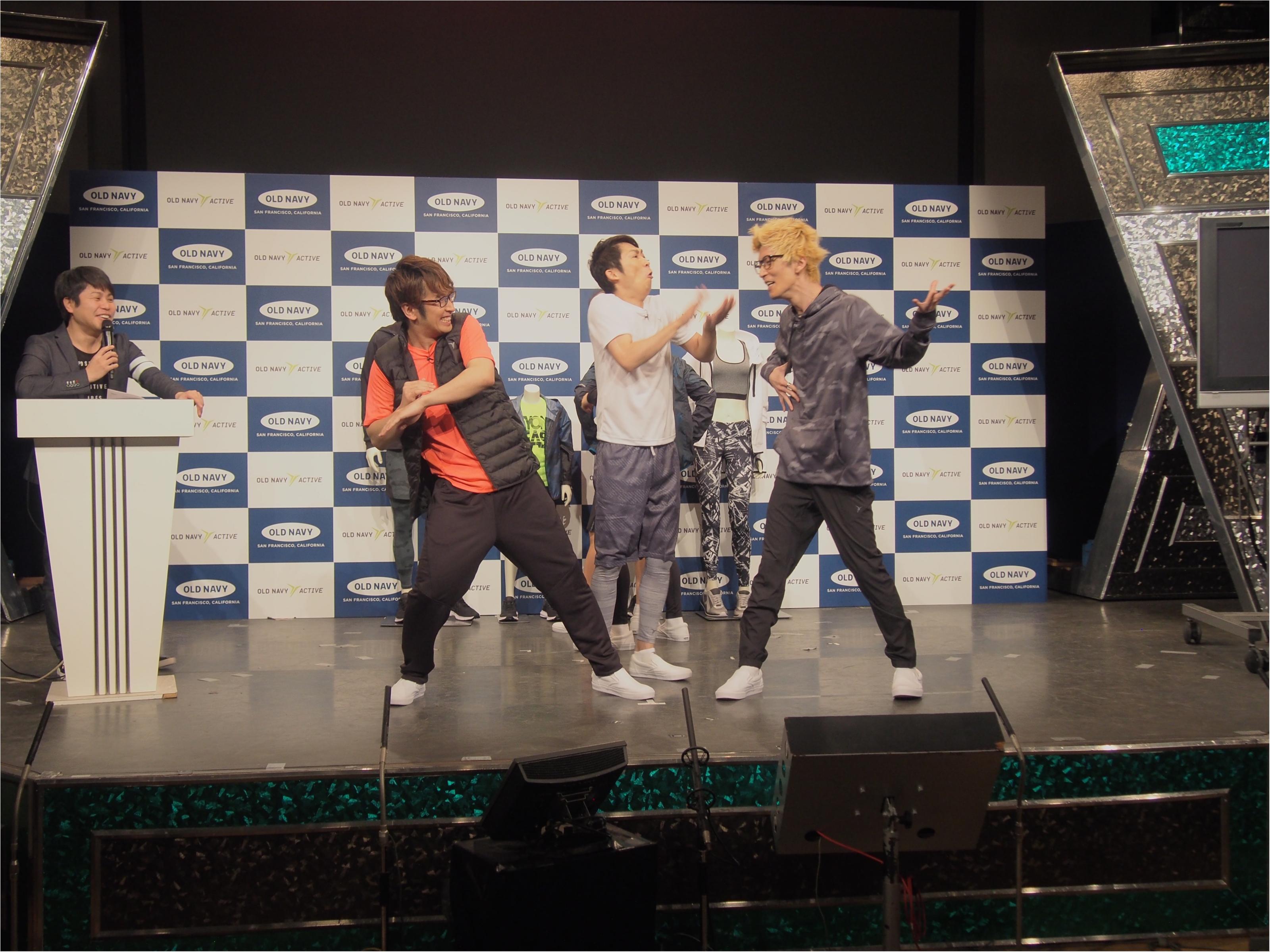エグスプロージョン&トレンディエンジェルがダンスで魅せる! 『OLD NAVY』アクティブウェアが日本初上陸☆_5
