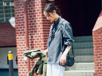 【今日のコーデ】<鈴木友菜>Tシャツコーデの鮮度上げに旬のプリーツパンツが大活躍♪