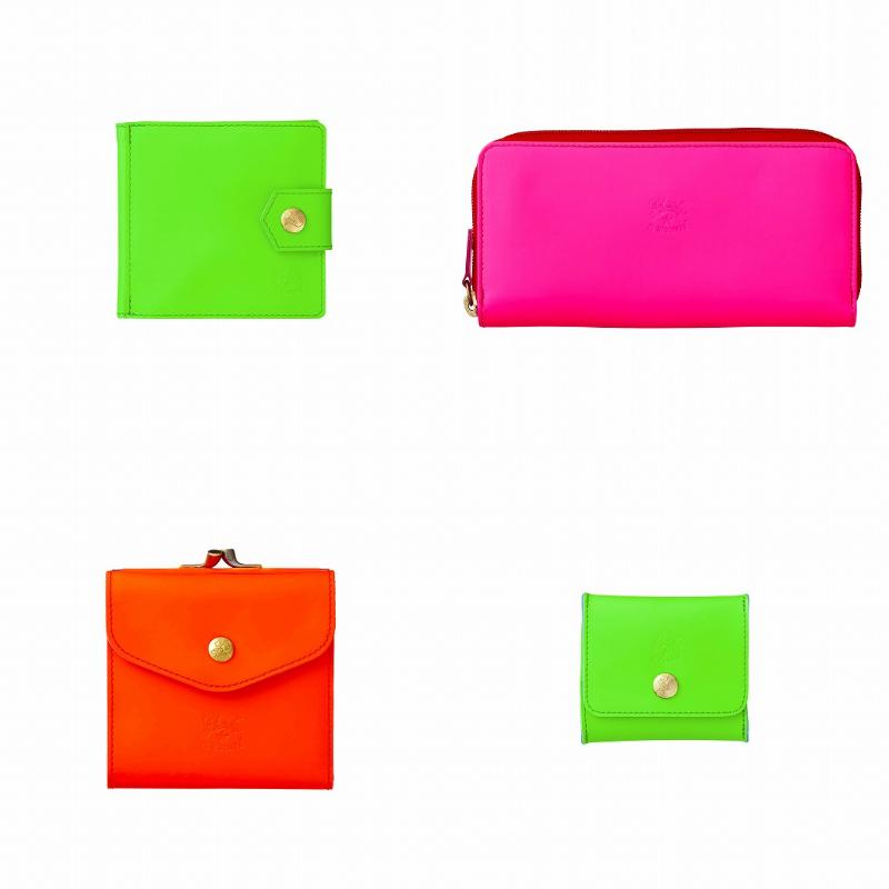 『イル ビゾンテ』ネオンカラーの財布の画像