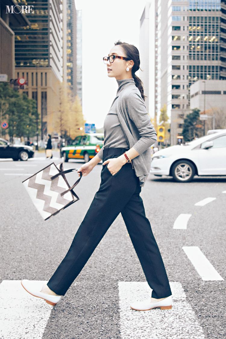 【今日のコーデ】<鈴木友菜>楽ちん通勤コーデが見違える、自分至上最高の美脚パンツみつけたっ!_1