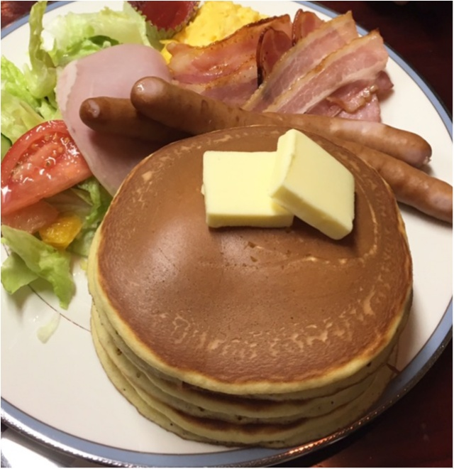昔ながらの喫茶店でホットケーキランチ♡_4