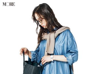 【今日のコーデ】<鈴木友菜>コートの中はブルーとイエローのフレッシュカラーで季節を先取り