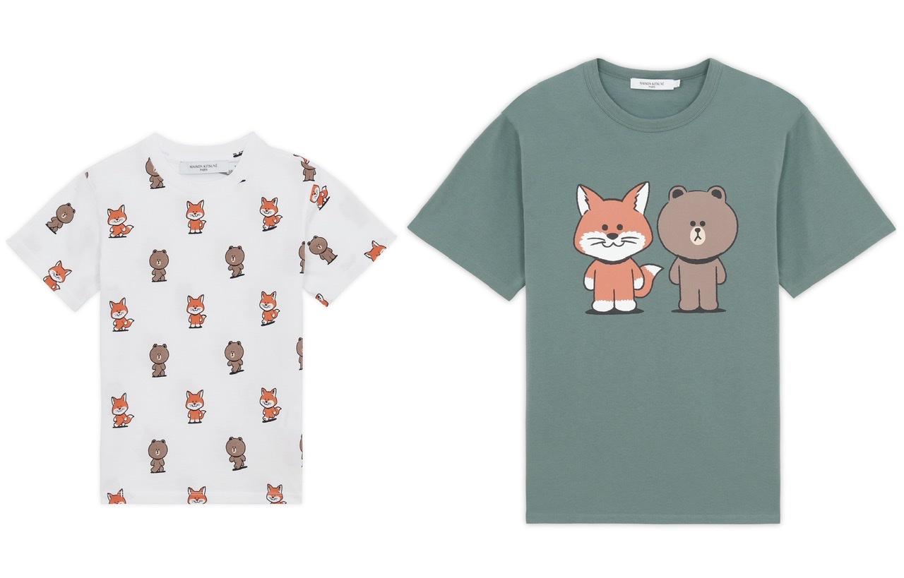 メゾンキツネ×LINE FRIENDSのTシャツ