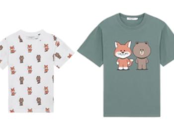 『メゾン キツネ』とLINE FRIENDSが初コラボ! Tシャツや小物、LINEスタンプも登場 PhotoGallery