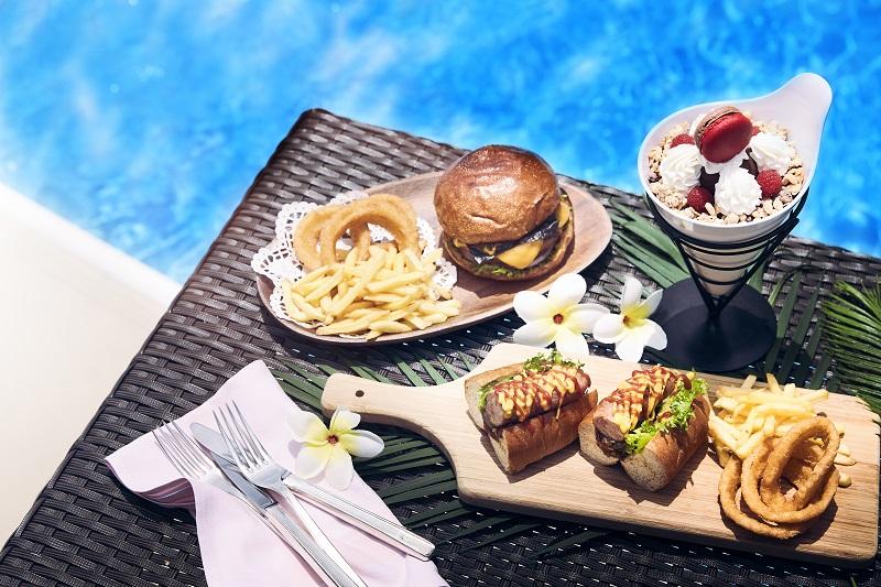 大坂のナイトプールおすすめ。『ニューオータニ大坂』のプールサイドレストランメニュー例