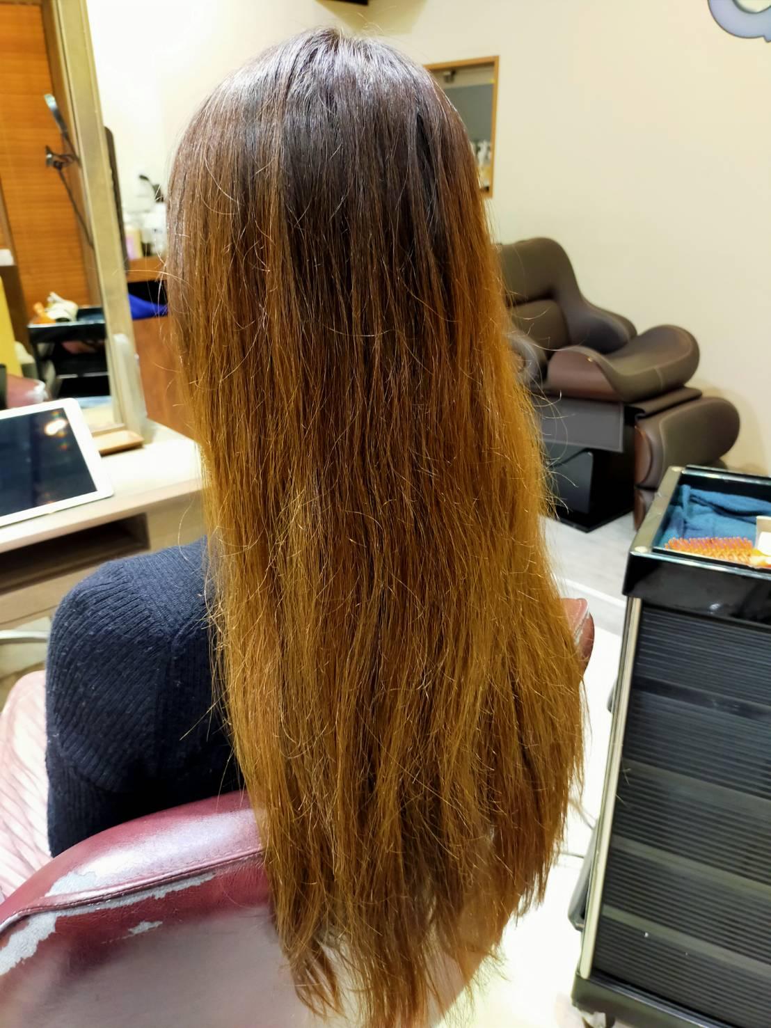 流行りの髪質改善やってみた_1