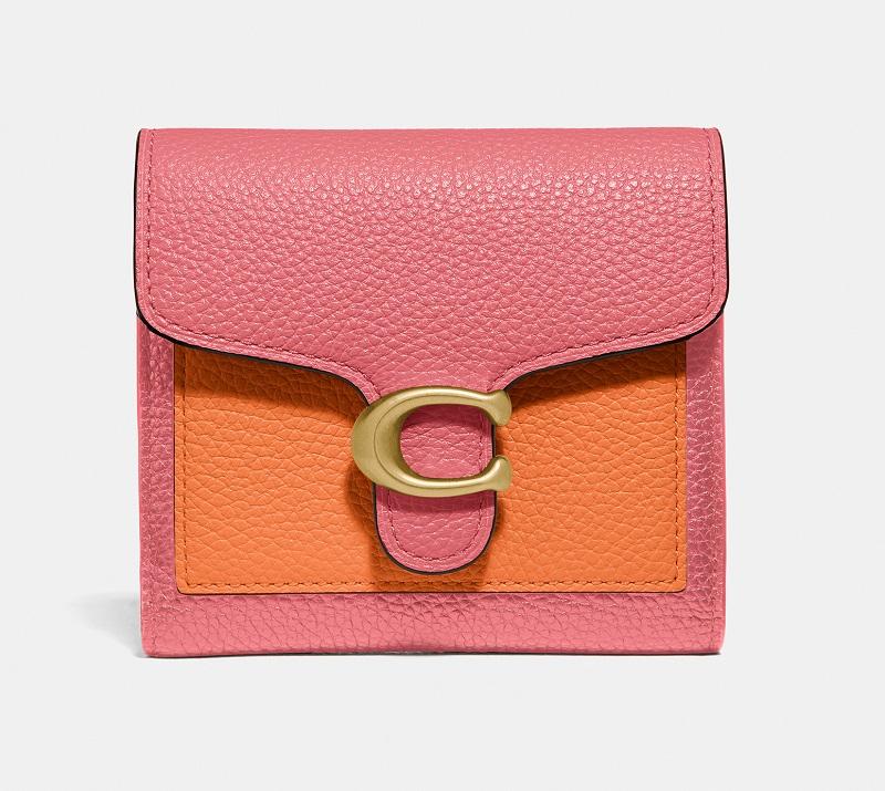 COACH(コーチ)、ピンク×オレンジの財布