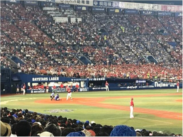 【スポーツ観戦コーデ】横浜スタジアムにて野球観戦してきました!★_2
