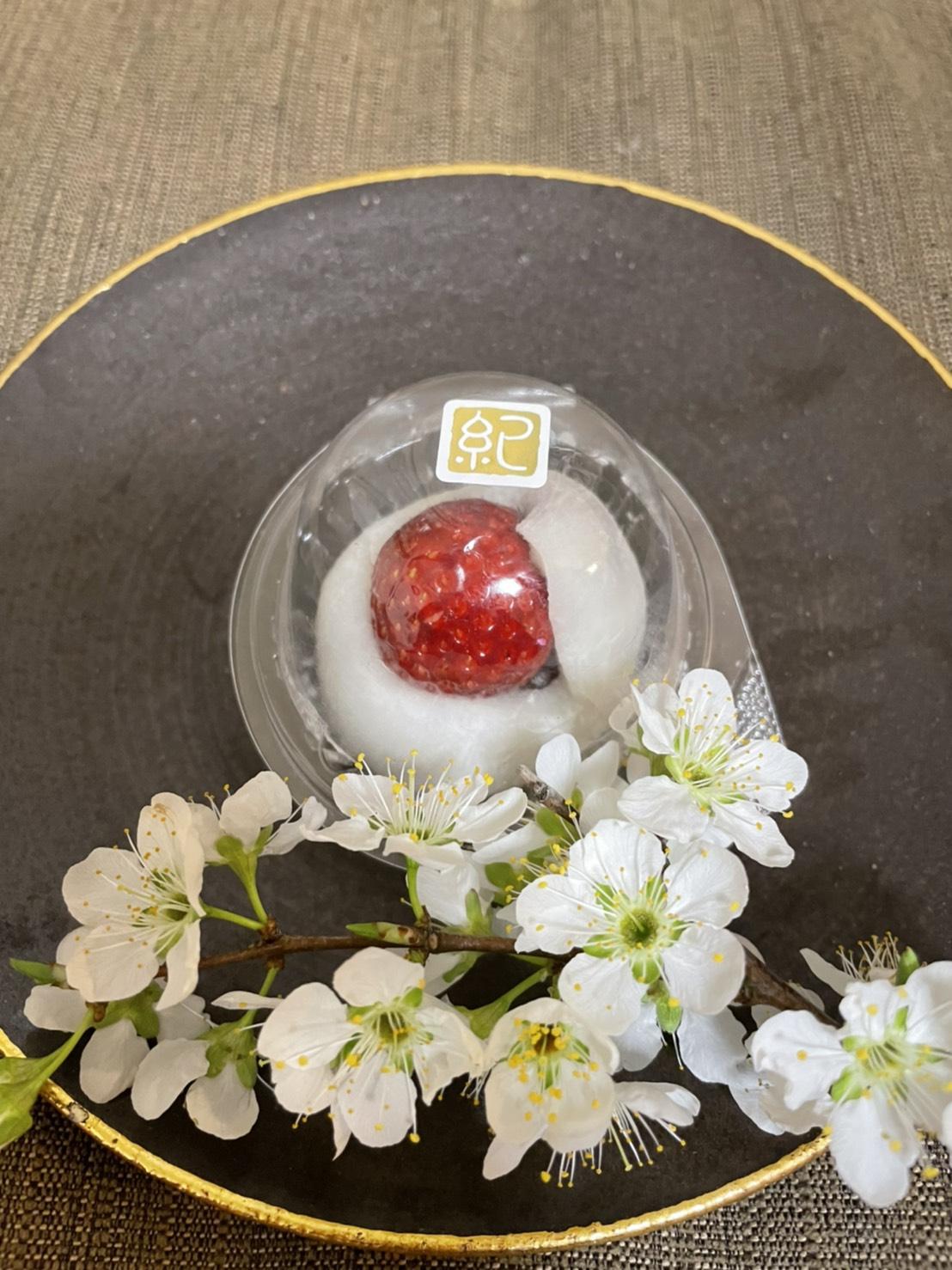 【おすすめいちごスイーツ】老舗゛紀の国屋゛の《いちご大福》と《桜餅》で春を味わう:*_2