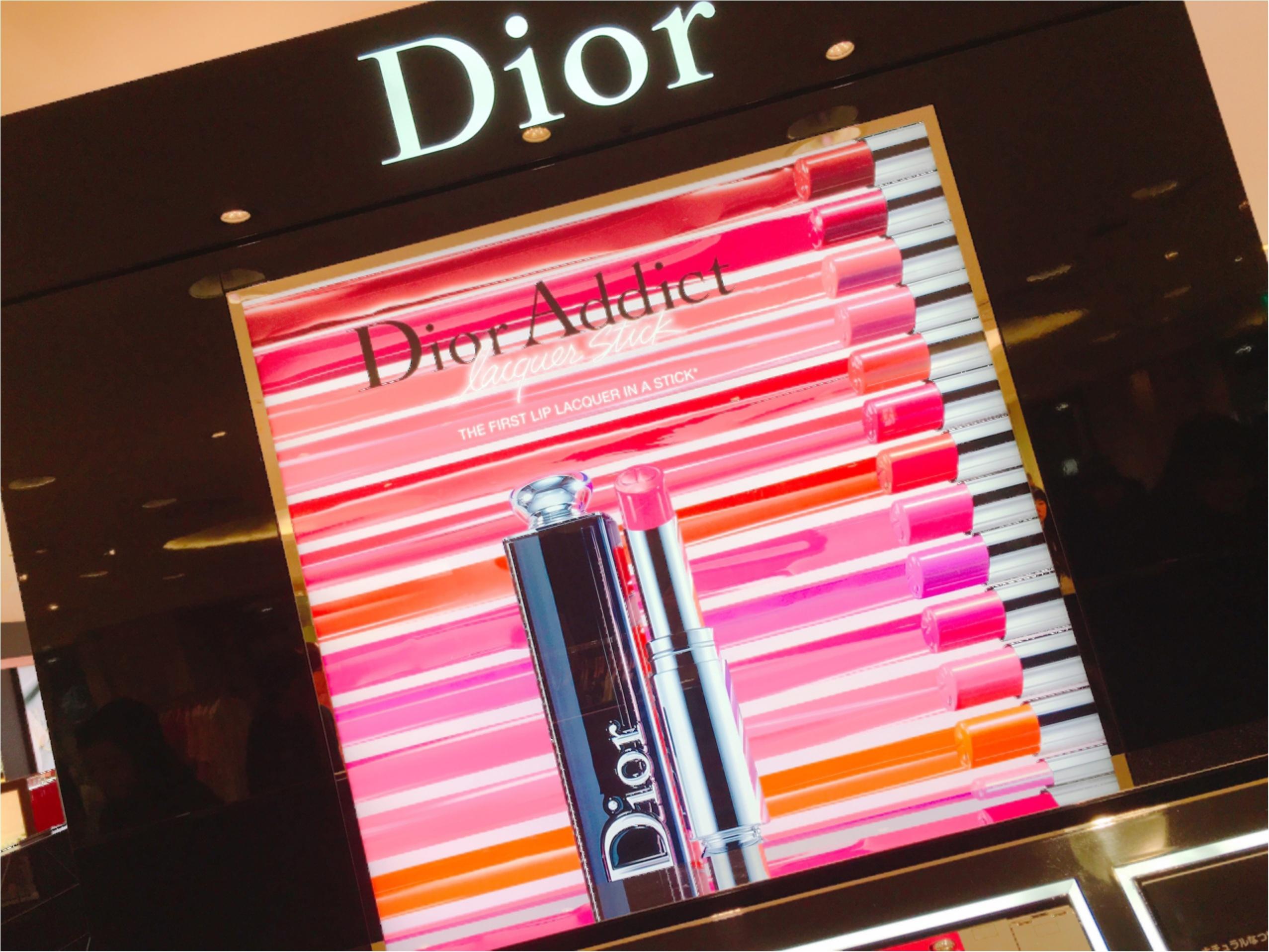 Dior アディクトラッカースティック♡♡♡新感覚のフォンダンリップ!?発色の良さと塗り心地が最高♡☺︎_1