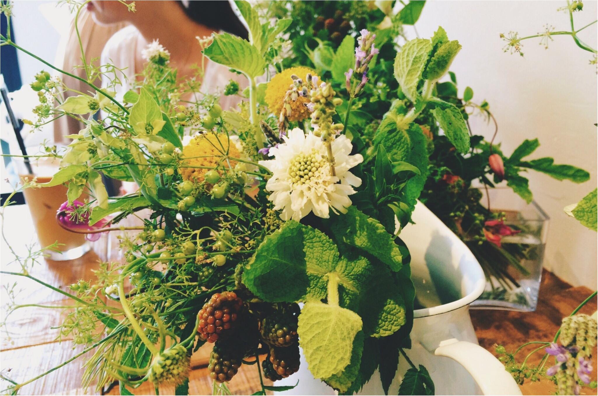 【*お花と珈琲時間な休日*】~食卓花のワークショップ~_9