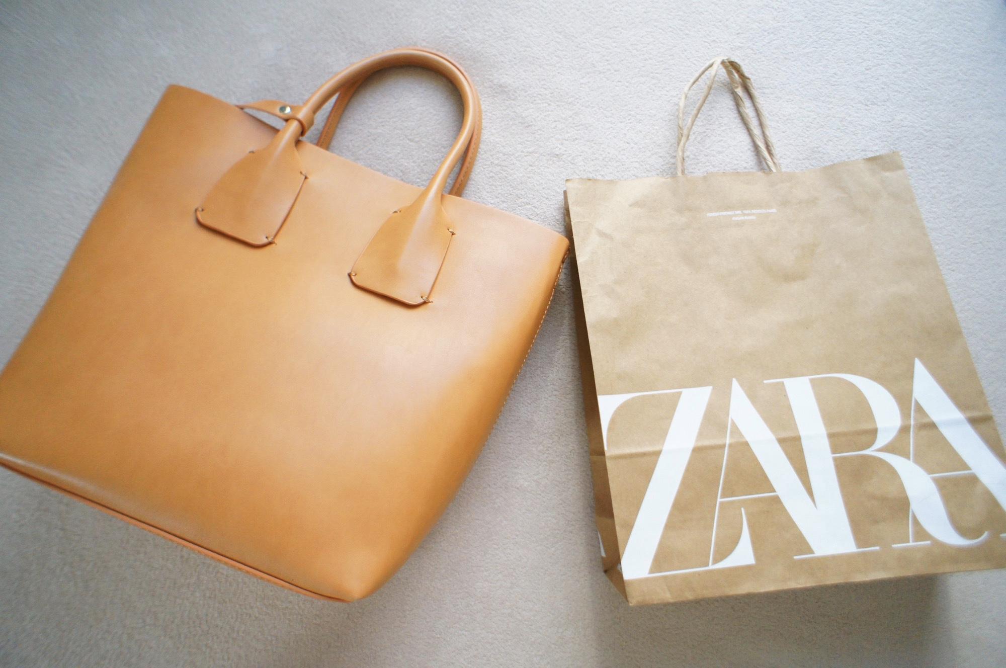 《#ザラジョ 必見❤️》【ZARA】のsaleで購入した2WAYトートバッグが優秀すぎる☻!_1