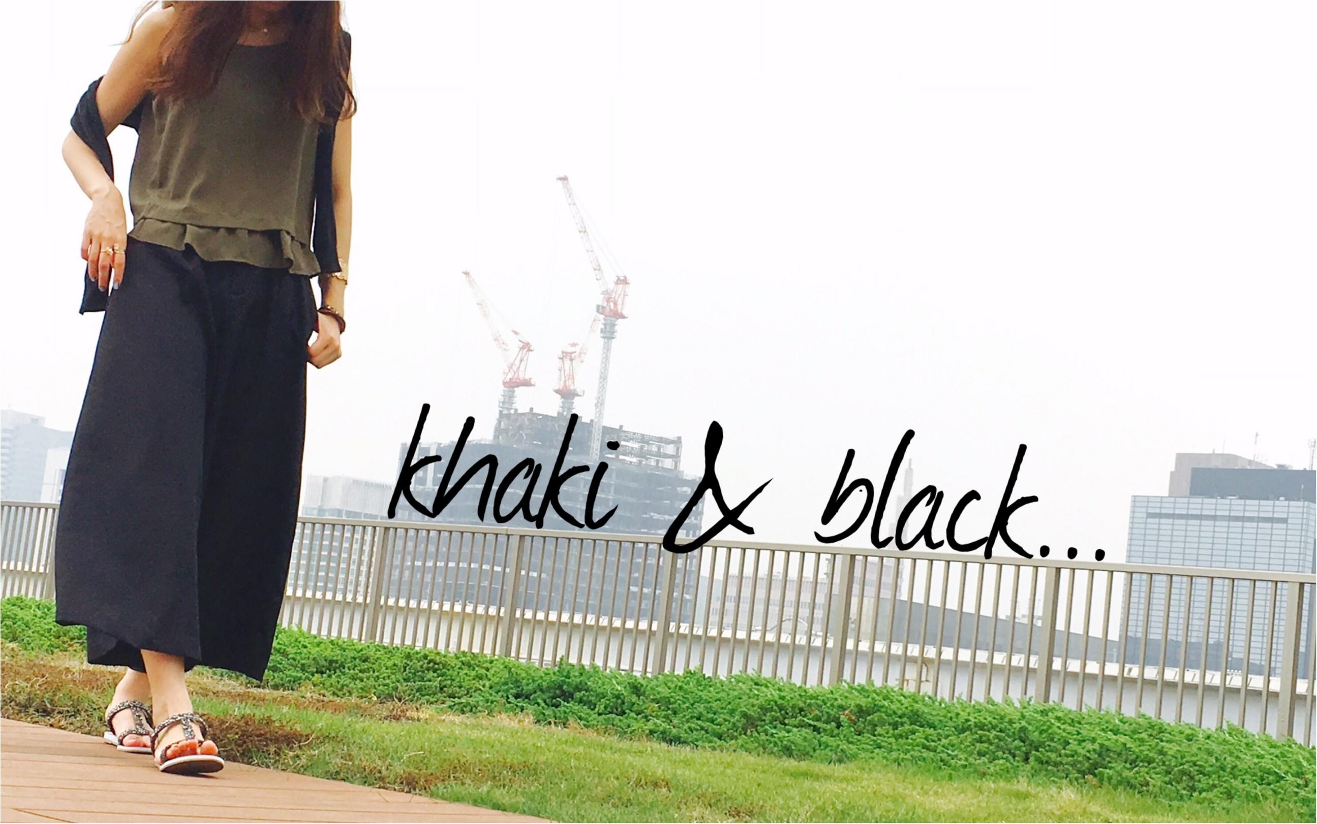 ▶︎▶︎今週の〈フルーツセルフネイル〉とカーキ×ブラックコーデ【はるな】_5