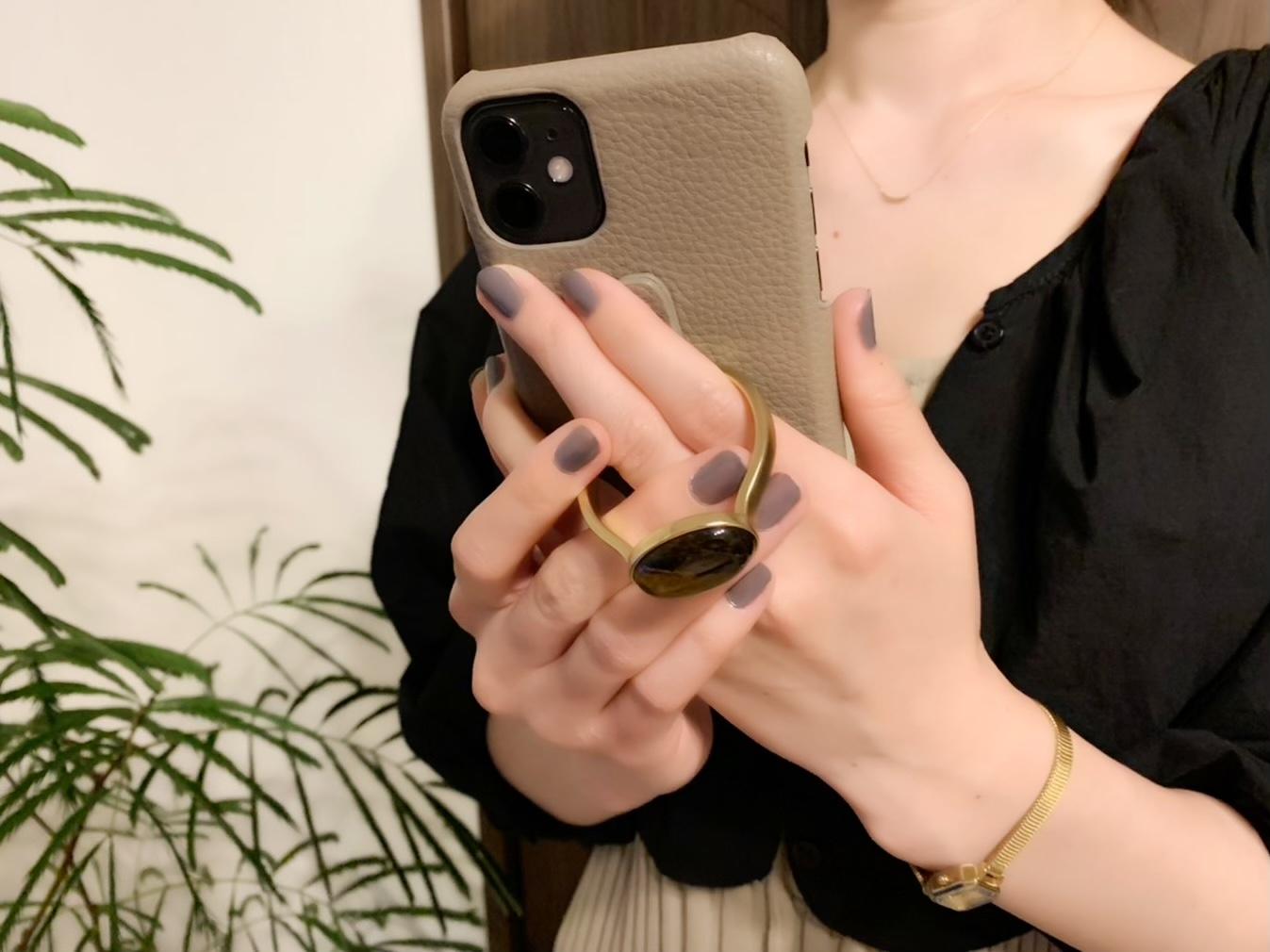 【HASHIBAMI】の《天然石ストーンリングiPhoneケース》がお洒落で可愛い♡_2