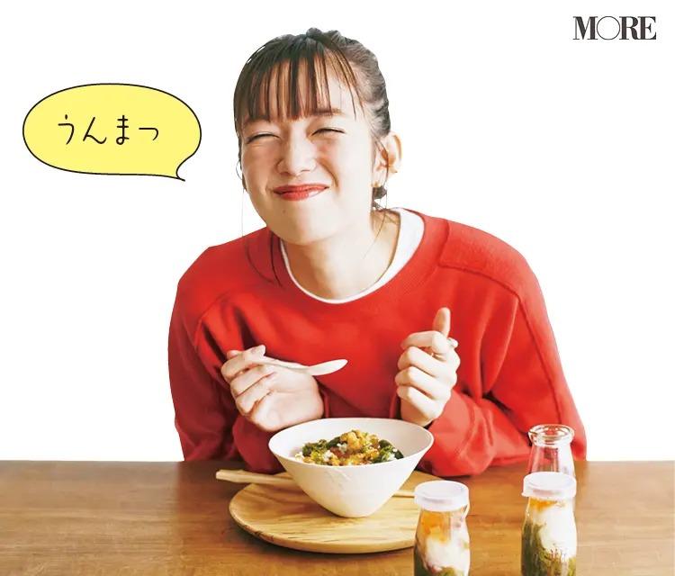 岩手県からお取り寄せした瓶ドンを食べる佐藤栞里