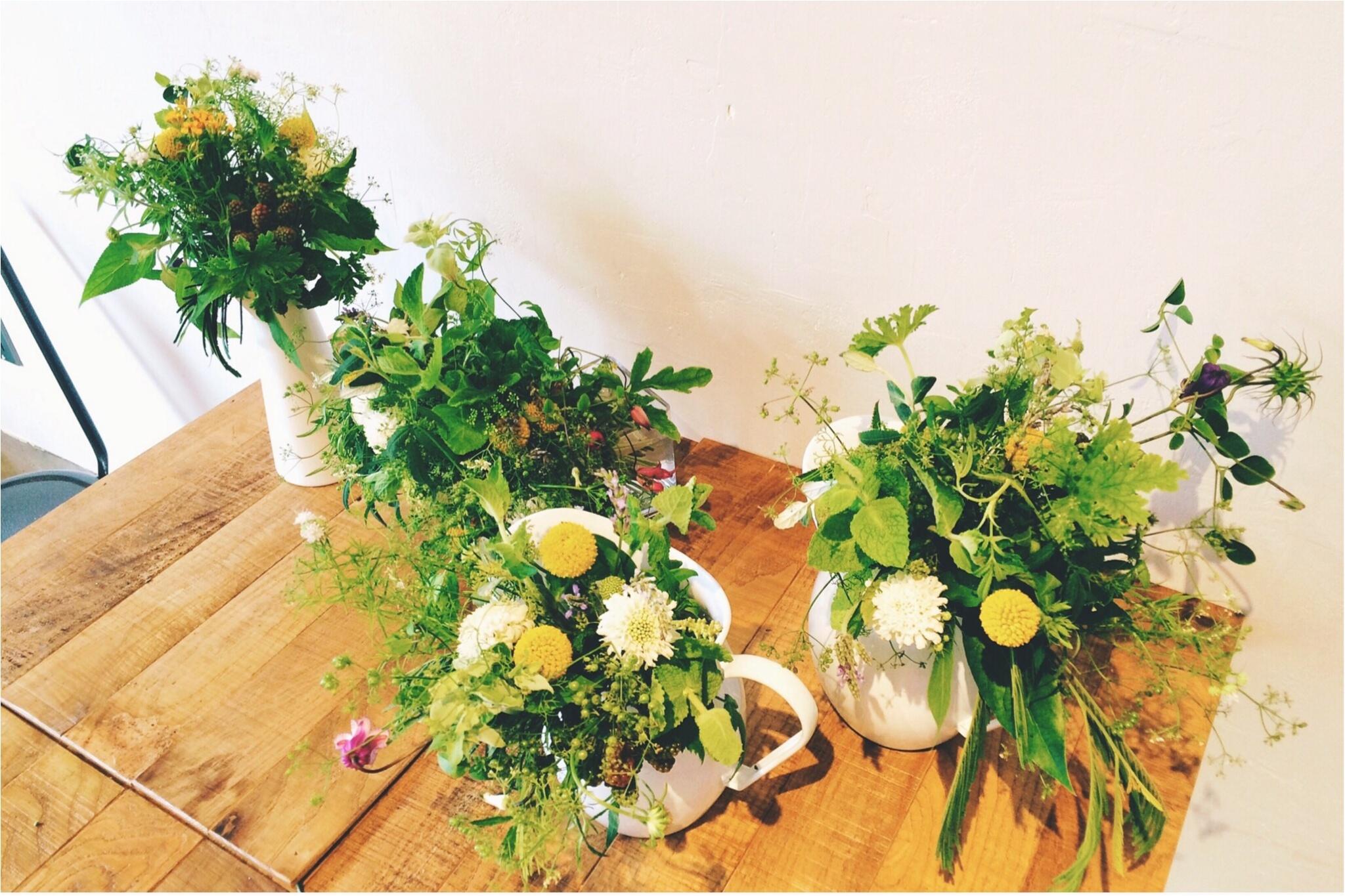 【*お花と珈琲時間な休日*】~食卓花のワークショップ~_8