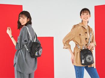 """Kipling×Keith Haringのバッグとなら、""""ちょっとそこまで""""のシンプルコーデがアーバンスタイルになる!"""