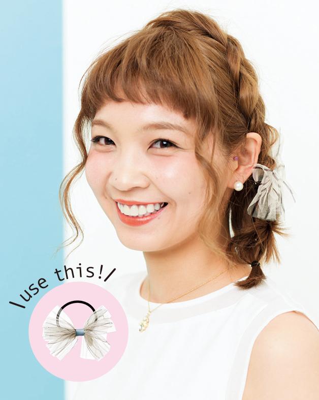 【美容師梅雨ヘアアレンジ】(3)ぺたんこヘアをレスキュー カール編み込みアレンジ_1