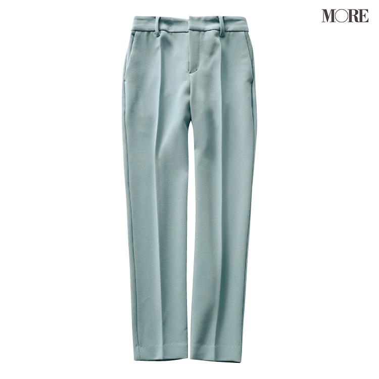 グリーン、ラベンダー、ブルーで美脚♡ 寒色系パンツが愛されシンプルコーデにきく!_5