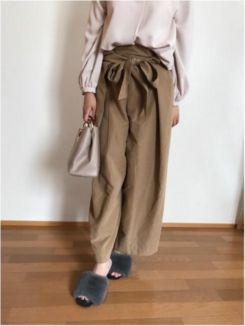 【秋ファッション】《ROPE PICNIC》にてワイドパンツをGET★ファーミュールとも相性抜群!!_2