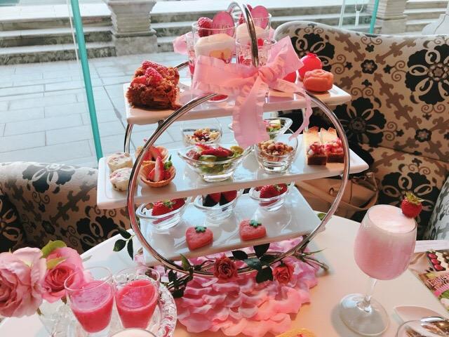 【ラ・スイート神戸ハーバーランド】ストロベリーアフタヌーンティーの苺と薔薇のコラボが可愛すぎる♡♡_6