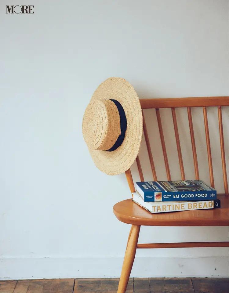 フレンチカジュアルなカンカン帽