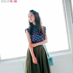 【今日のコーデ/唐田えりか】トレンドのイレギュラーヘムスカートで女っぽい裾揺れを楽しんで♪