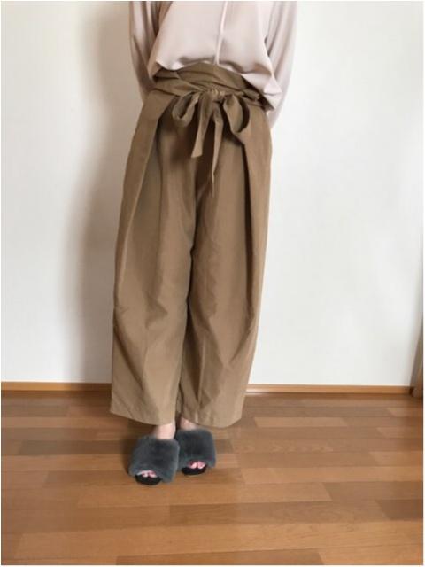 【秋ファッション】《ROPE PICNIC》にてワイドパンツをGET★ファーミュールとも相性抜群!!_1