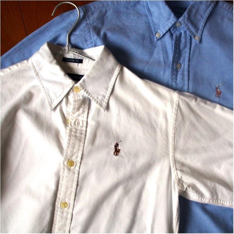 愛用歴10年!ひとつ持っておくとオールシーズン使えるラルフローレンのシャツ(412あみ)_3