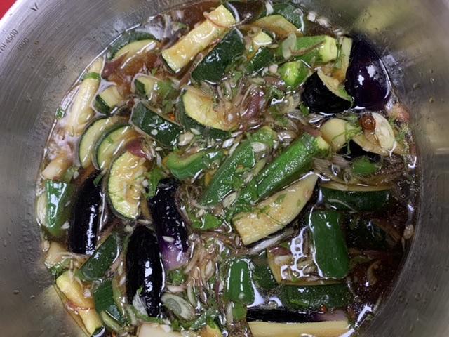【我が家の定番!夏野菜の揚げ浸し!】市場でお野菜を買ったよ♡_5
