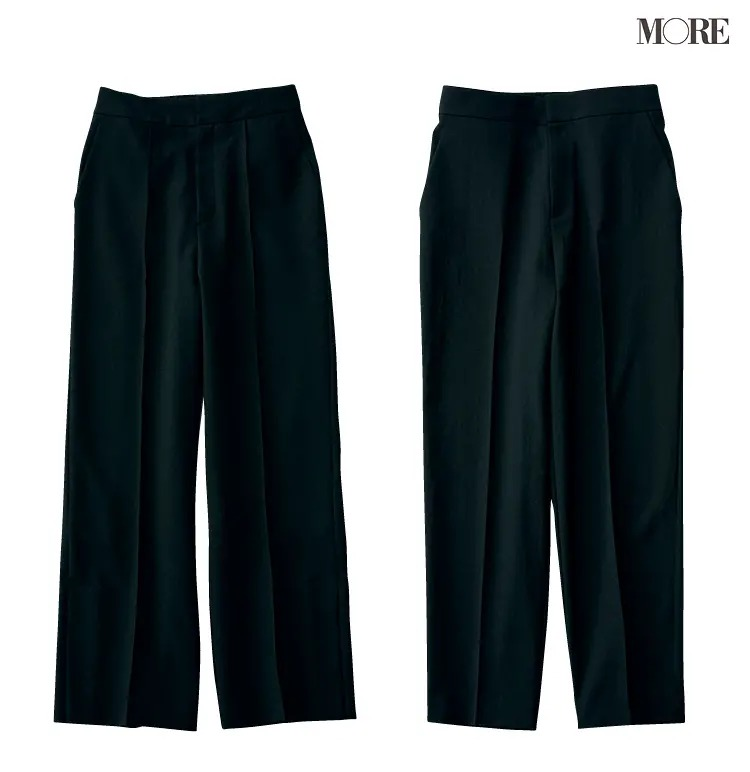 ストレートタイプに似合うノーリーズソフィー、MEW'S REFINED CLOTHESのパンツ