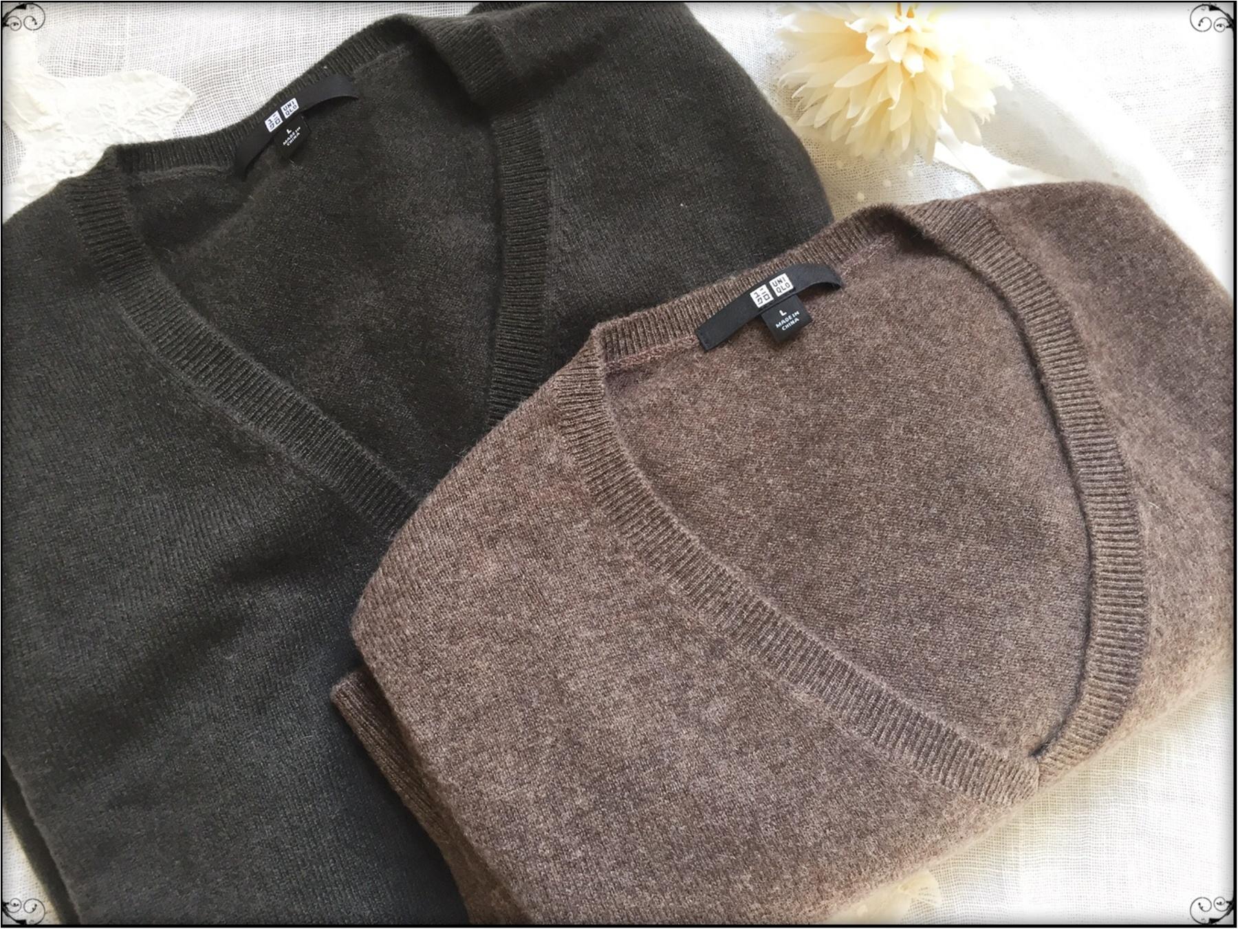 …ஐ 【ユニクロカシミヤVネックセーター】イロチ買いマストの100%カシミヤ素材♥️ふんわり軽くて温かい肌ざわりをこの値段で買えるのはユニクロだけ‼︎ ஐ¨_2