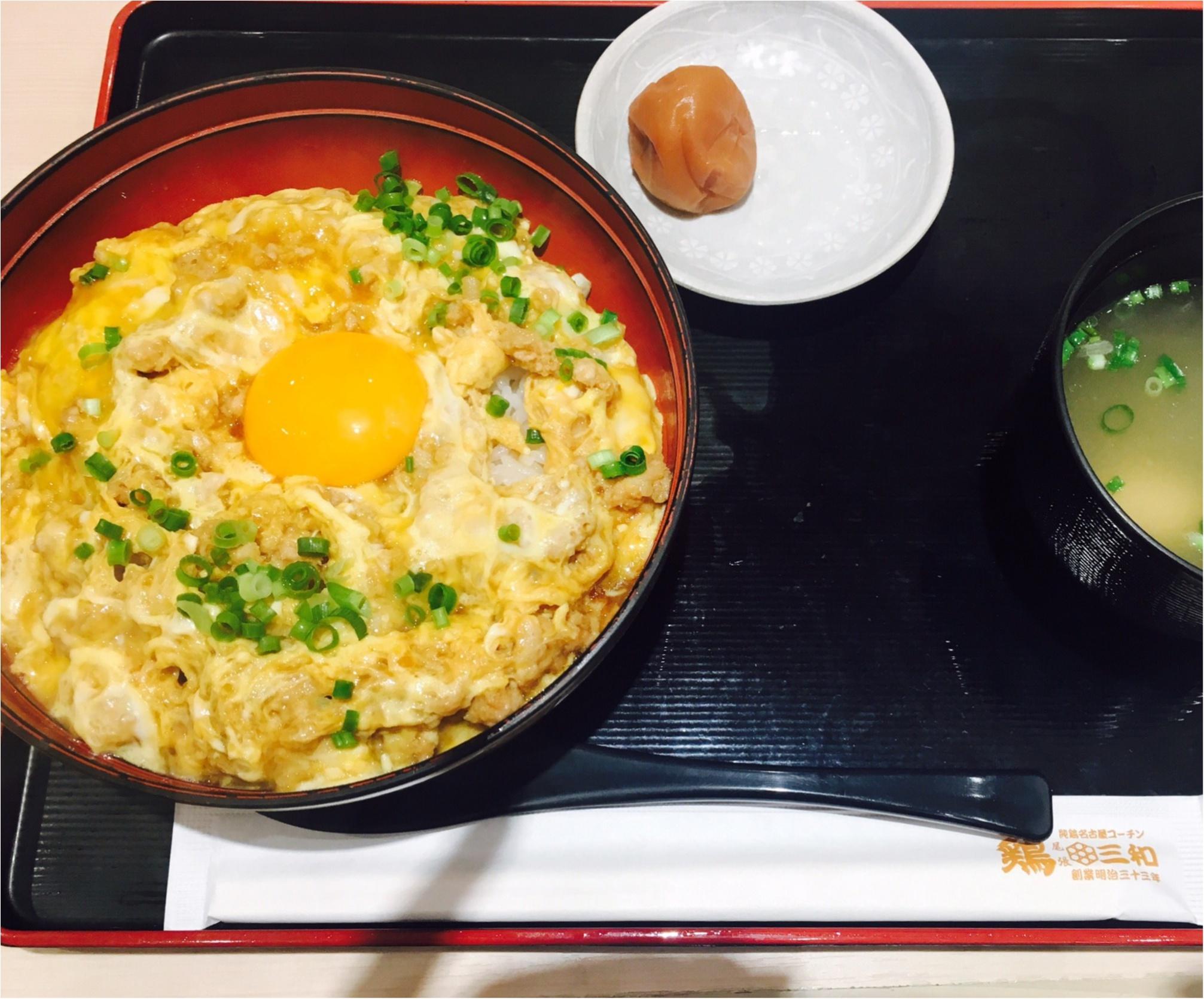【鶏三和】の≪名古屋コーチン親子丼≫が美味しすぎる!期間限定の≪月見鶏そぼろ親子丼≫もオススメ!_2