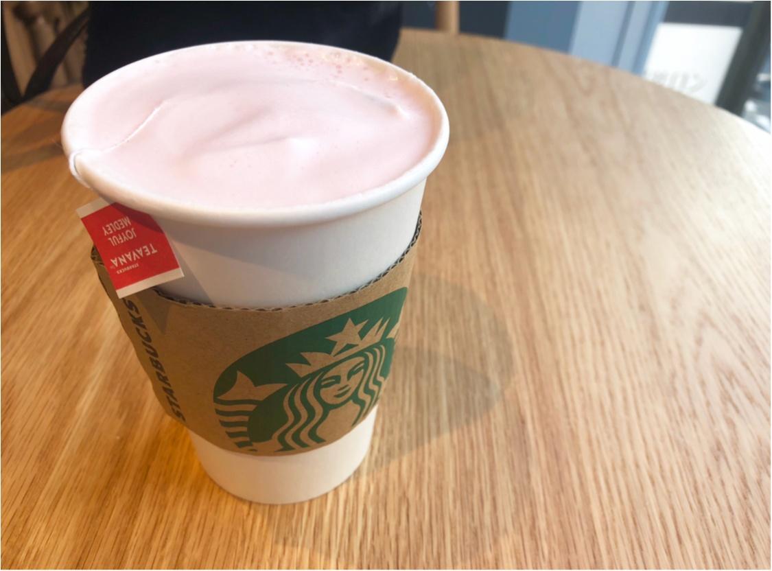 【スタバ】ドリンクも春色で❤️2018年初の新作《ピンクメドレーティーラテ》がおいしくて可愛すぎる!_2
