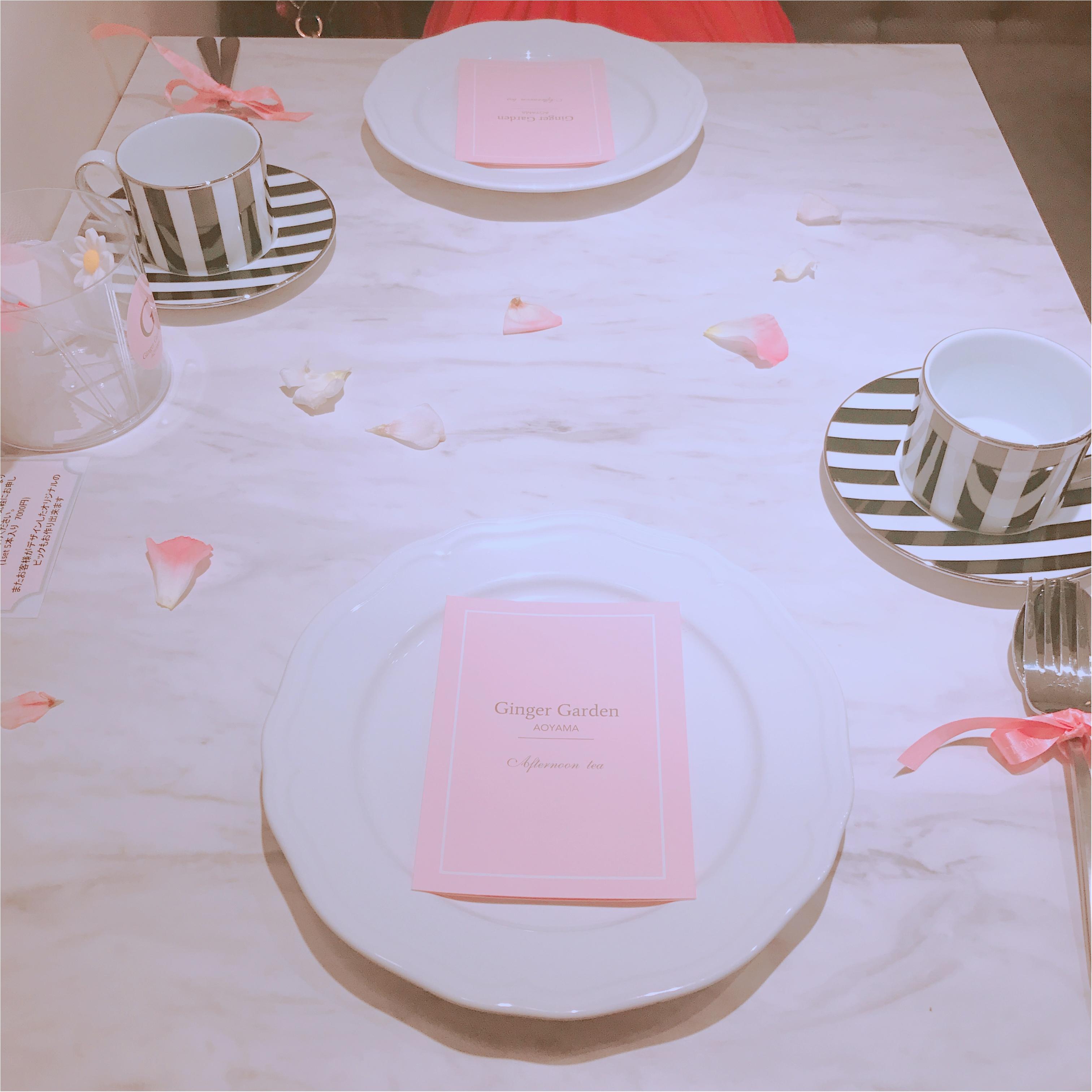 土日祝限定!完全予約制、ジンジャーガーデン青山のピンクアフタヌーンティーが可愛すぎる!_3