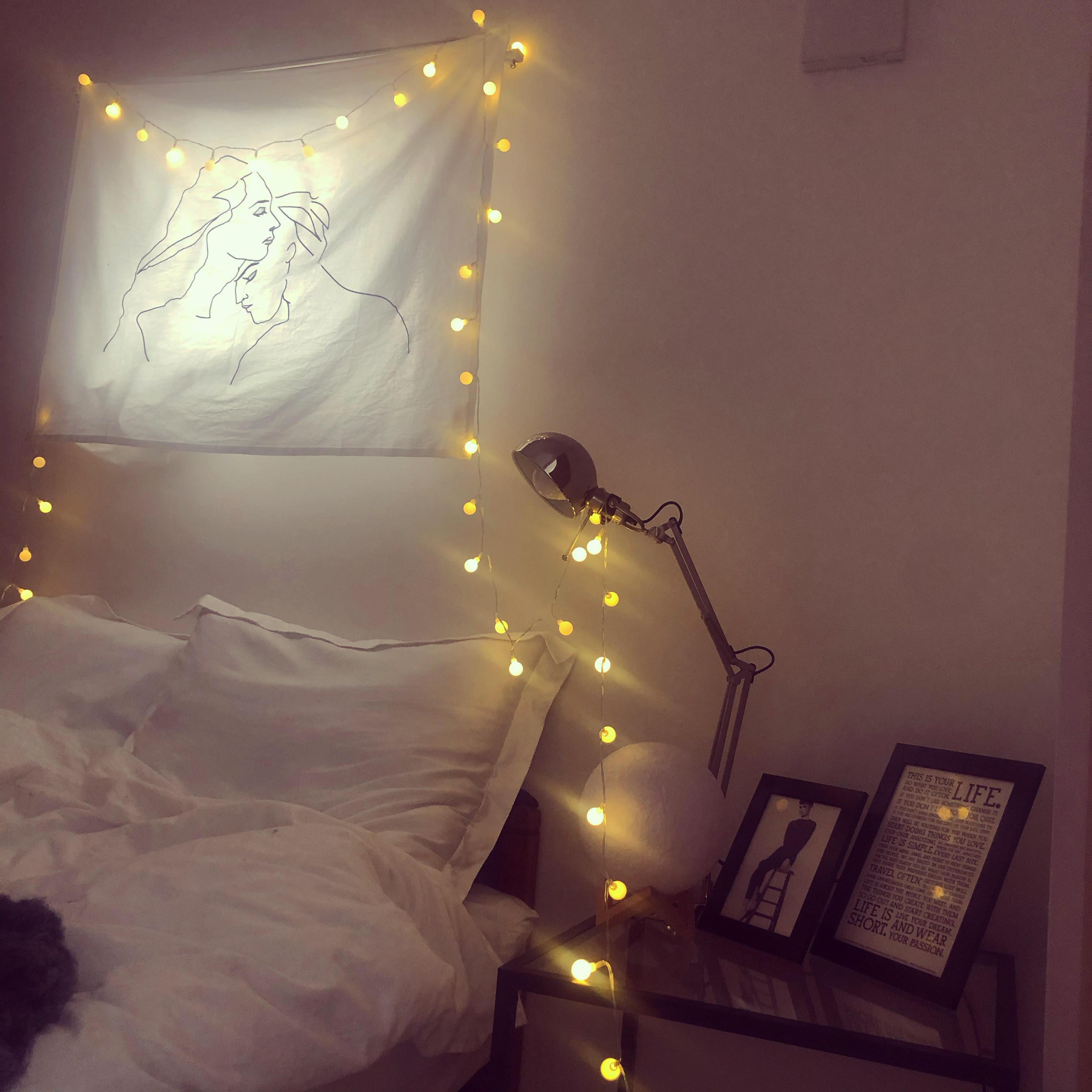 【韓国インテリア】キラキラ間接照明でベッドルームを彩って♡_1