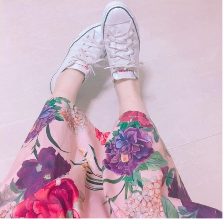 《いま、ザラ(ZARA)女が増えているっ♡!》今年初の春物は売り切れ続出のお花咲きめくミモレスカート♡!_3