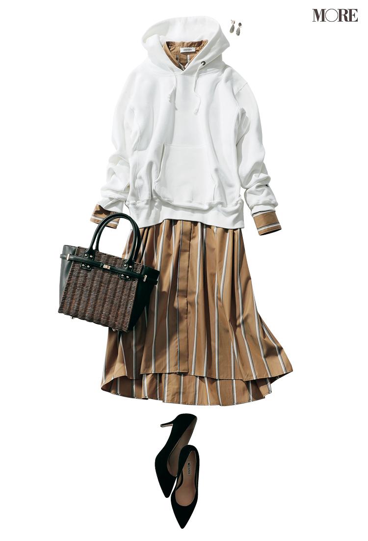 カラーコーデで恋愛モードを高めて。パンツ派巴瑞季・スカート派りな「秋ボトムに何合わせてく?」着回し20日目_3