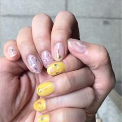 【ネイル】夏真っ盛り!ビタミンカラーが可愛い♡♡ ニュアンスネイル!