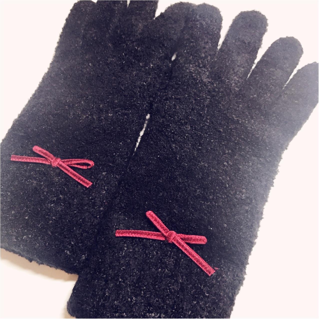 【ワンコインで簡単♪】シンプル手袋を可愛くリメイク❤︎_4