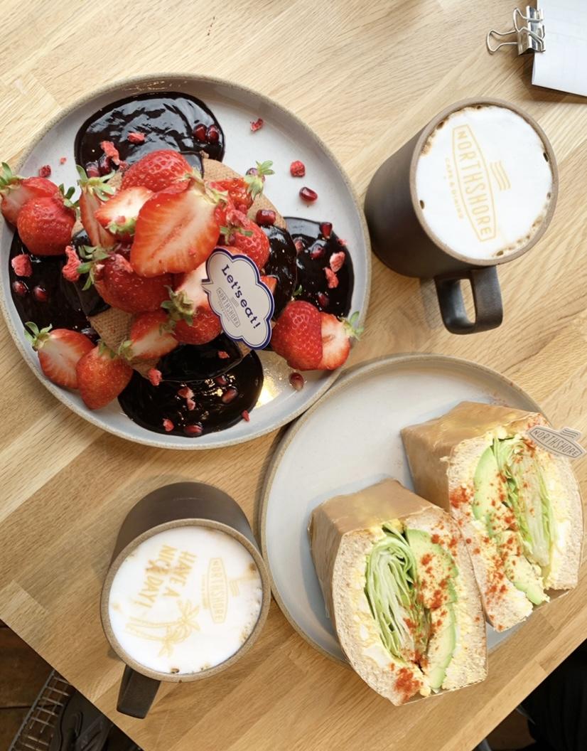 【おすすめいちごスイーツ】NORTHSHORE CAFE&DINING北浜でいちごのパンケーキ❤︎_5