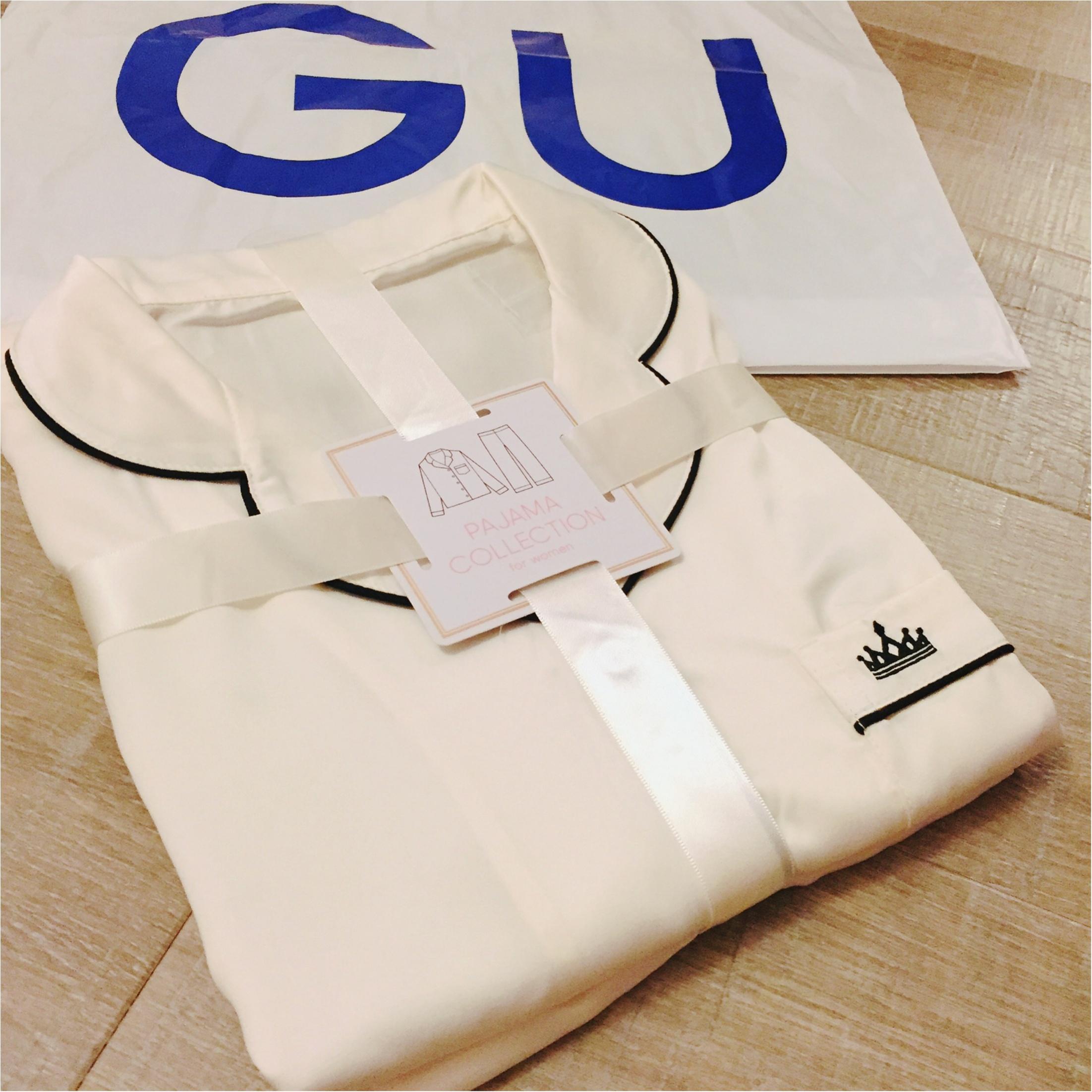 【GUパジャマ】可愛いうえにプチプラ!あなたはどのタイプを選ぶ?GETしたサテンパジャマを着てみました♡_2