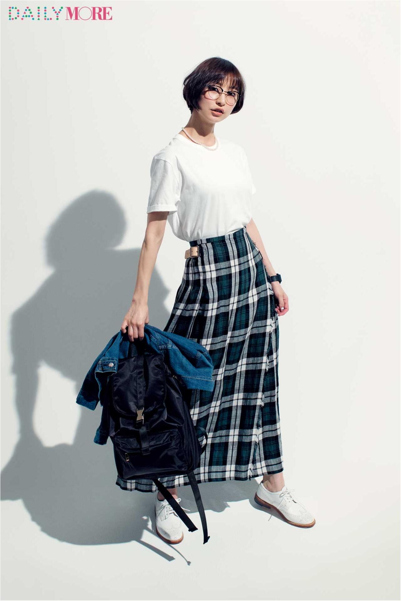 篠田麻里子がこだわる白Tシャツ講座!【ユニクロ&ヘインズのシンプルT編】_4
