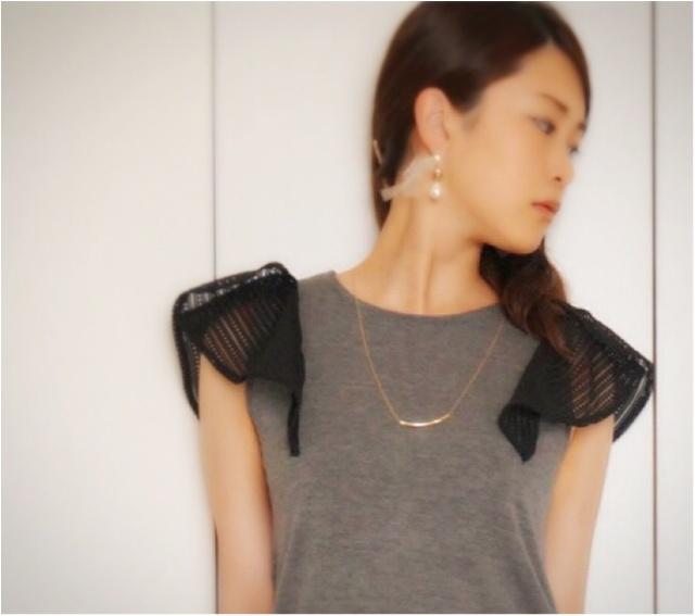 【Q♡code】大人気UNIQLOドレープワイドパンツの甘辛コーデ_3