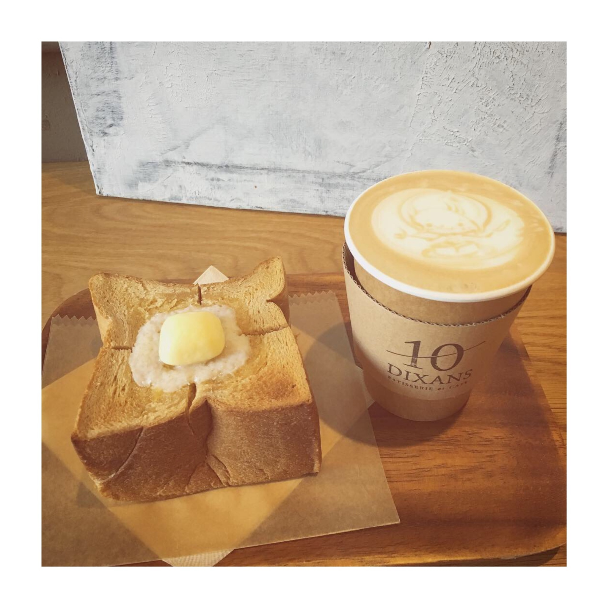#12【#cafestagram】❤️:《東京•水道橋》ふわふわ絶品!厚切りトーストと可愛いラテアートが人気のカフェ「DIXANS」☻_2
