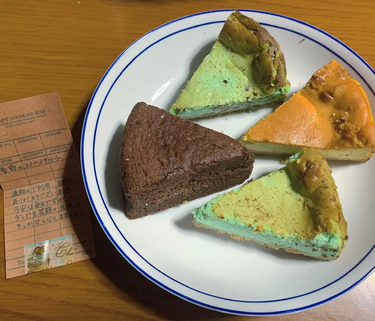 チョコミン党の聖地と言われる京都『Cafe 1001』のケーキ