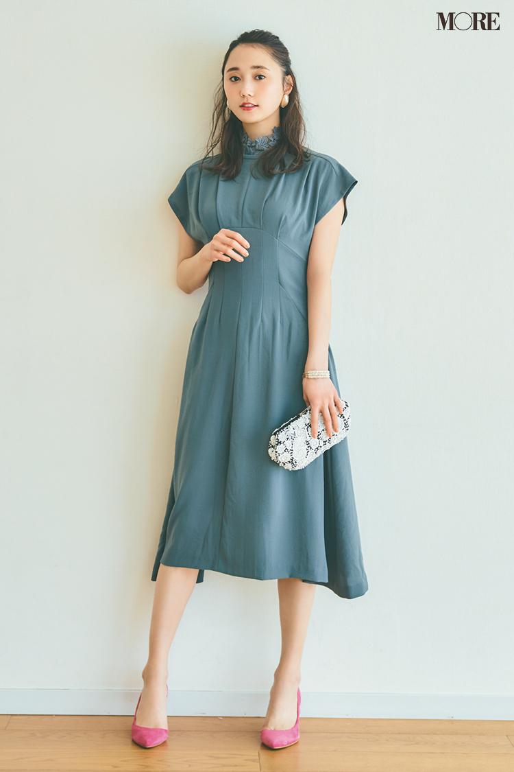 【今日のコーデ】<鈴木友菜>特別感を出したい日はシックなおよばれドレスに美人な小物を添えて♡_1