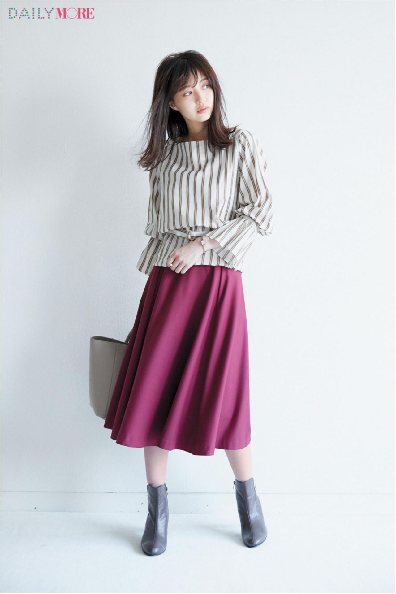 秋コーデを軽やか&華やかに♪ 「フレアスカート」の着こなしまとめ♡_1_5