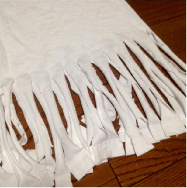 【DIY】人気のHanesTシャツを、自分サイズに♡かつ今年っぽくアレンジ♪( ´θ`)ノ_3